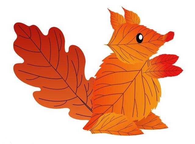 Поделки из листьев картинки