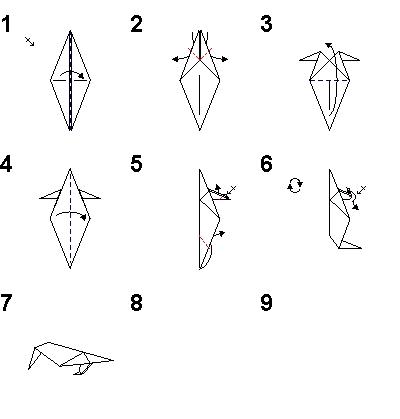 Оригами грач схема для детей 55