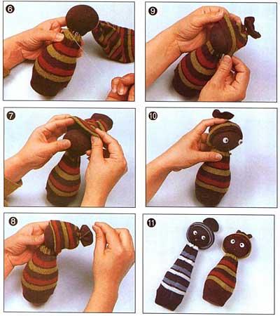 Как сделать куколку из носок своими руками