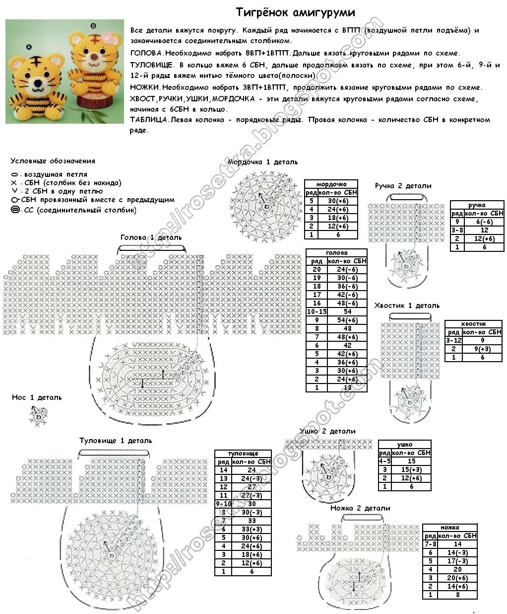 Вязаные игрушки амигуруми схемы