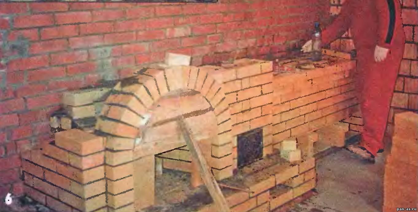 Как сделать печь с камином своими руками 74