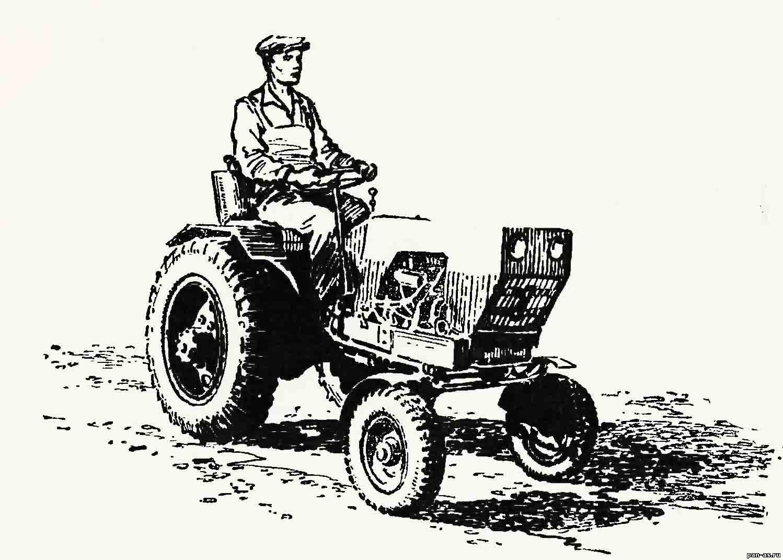 поделки из фанеры трактор схема