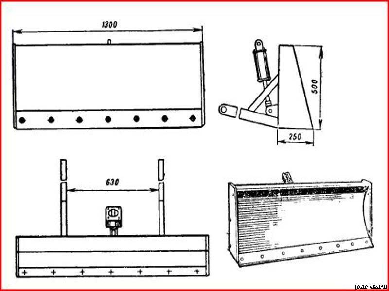 Лопата для минитрактора своими руками чертежи